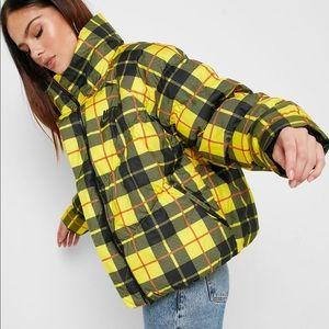 Nike Plaid Puffer Jacket